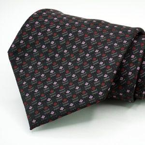 "Hugo Boss 100% Silk Neck Tie 3.5"" Width Black"